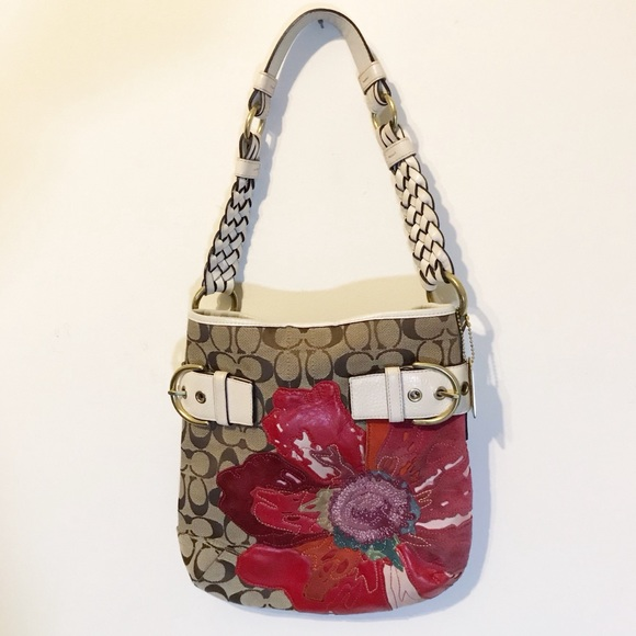 Coach Bags Poppy Leather Flower Purse Poshmark